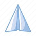 contact, e-mail, email, mail, message, paper, plane icon