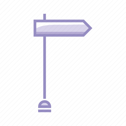 arrow, direction, goal, orientation, purple, sign icon