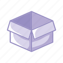 box, classify, clean, idea, purple icon