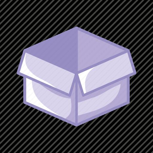 box, classify, clean, idea, purple icon