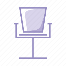 administration, boss, chair, desk, office, president, purple icon