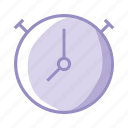 chrono, clock, purple, schedule, stopwatch, time icon