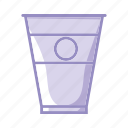 break, coffee, cup, glass, goblet, purple, tea icon