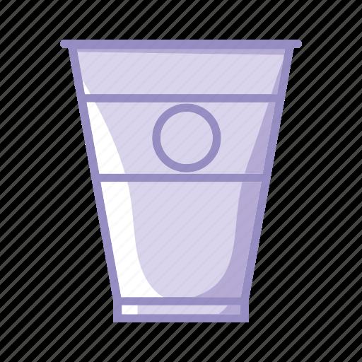 break, coffee, cup, glass, goblet, purple, tea icon