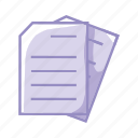 file, files, folder, office, paper, purple icon