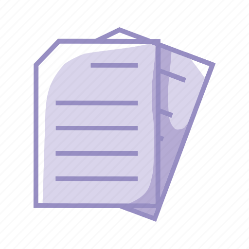 file, files, folder, office, paper, purple icon