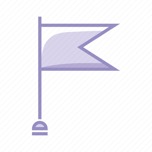 checkpoint, flag, goal, mission, objective, purple icon