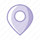 geo, geolocalisation, pin, place, purple icon