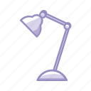 bulb, desk, highlight, light, office, purple, spotlight icon