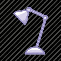 bulb, desk, highlight, light, office, purple, spotlight icon