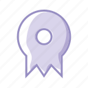 certification, degree, learn, medal, purple, training, win icon