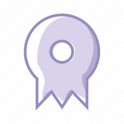 certification, degree, learn, medal, purple, training, win icon