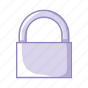 closed, padlock, protection, purple, security icon