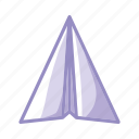 communication, contact, email, mail, paper, plane, purple icon