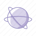 mission, objective, planet, purple, space icon