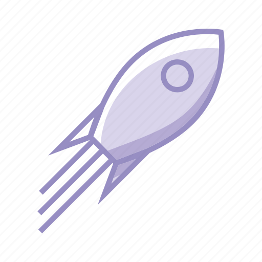 Goal, growing, launch, mission, objective, purple, rocket icon - Download on Iconfinder