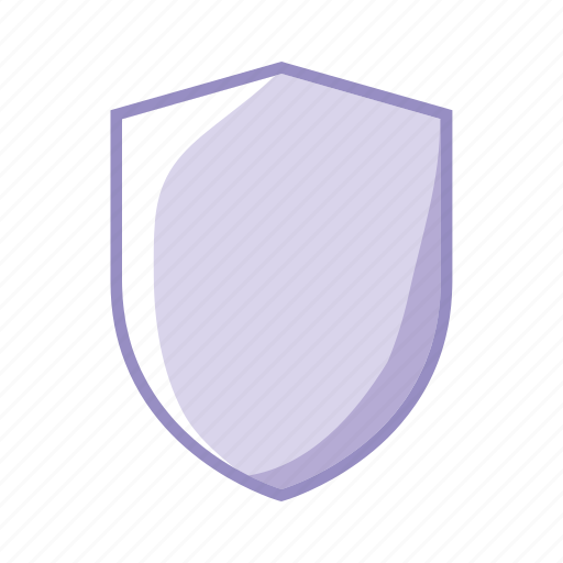 protection, purple, security, shield icon