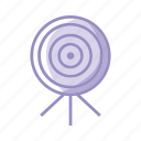 goal, objective, purple, target icon