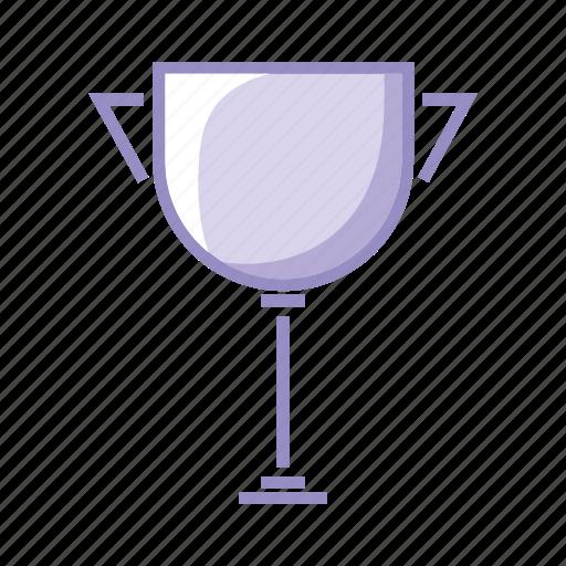 purple, trophy icon