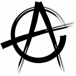 anarchism, anarchy, punk, rebel, riot, spray icon