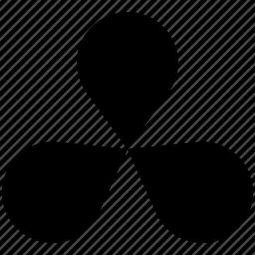 clover, diagram, flower icon