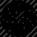 aperture, circle, diaphragm, divided, iris icon