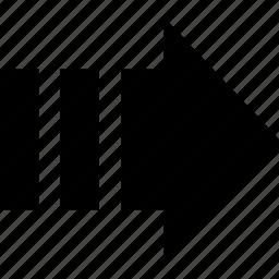 arrow, gradual, right icon