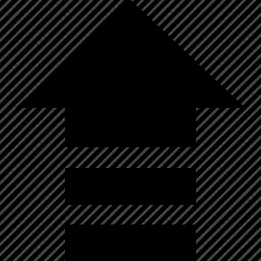 arrow, gradual, post, send, up, upload icon