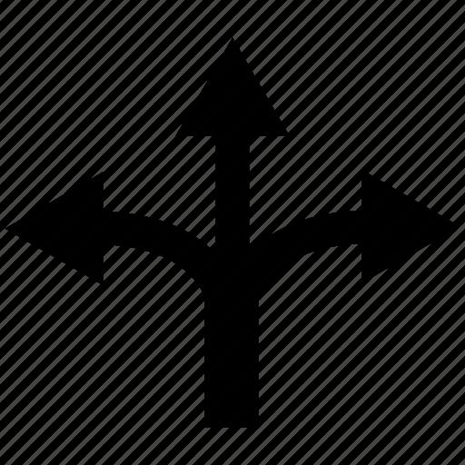 split, trident icon