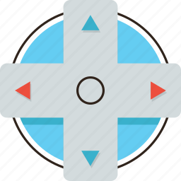 arrows, control, direction, gamepad, pad, play icon