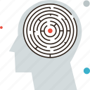 brain, game, head, labyrinth, maze, memory, mental, mind, psychology, puzzle icon