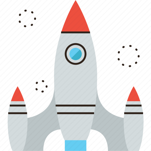 exploration, rocket, ship, shuttle, space, start icon
