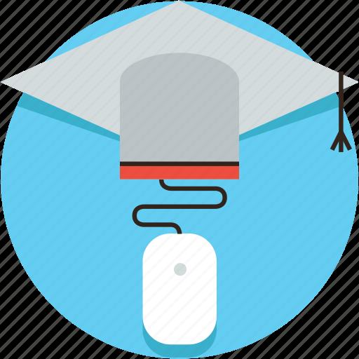academy, college, course, education, graduation, online, university, virtual, webinar icon