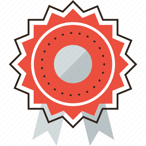 achieve, award, badge, medal, motivation, reward, ribbon icon