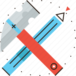 build, construct, craft, diy, engineering, hammer, instruments, tools icon