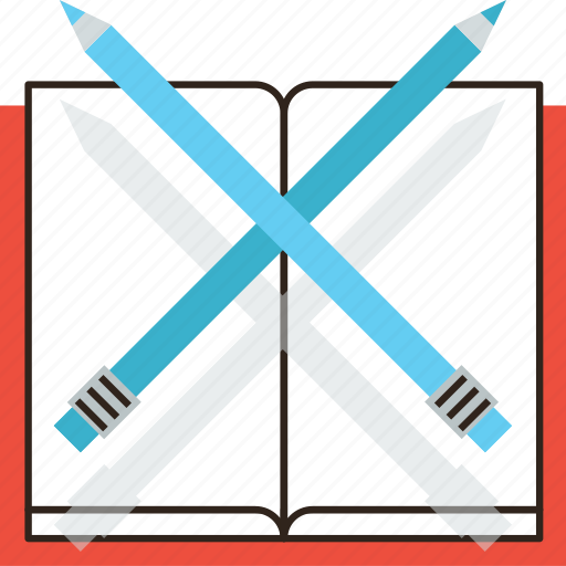 book, draw, education, pencil, sketch, sketching, write icon