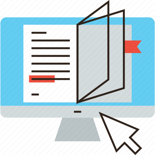 book, computer, learn, online, read, science, study, tutorial icon