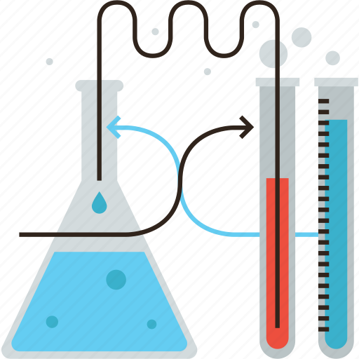 beaker, biotech, chemistry, experiment, flask, lab, reaction, science icon