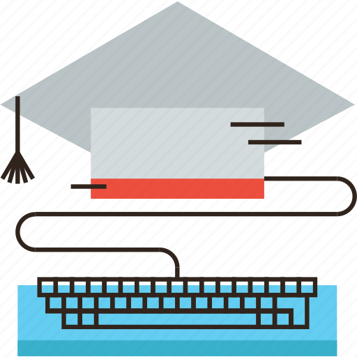 class, computer, elearning, graduate, online, teaching, training icon
