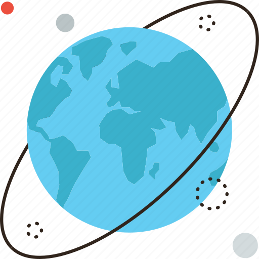 astronomy, earth, globe, orbit, planet, space, world icon