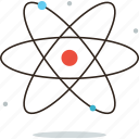 atom, atomic, energy, model, nuclear, physics, power, science icon