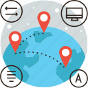 map, move, network, globe, global, cooperation, education, travel