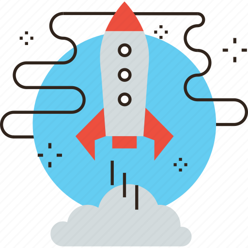 approach, expedition, mission, ship, space, start, startup icon