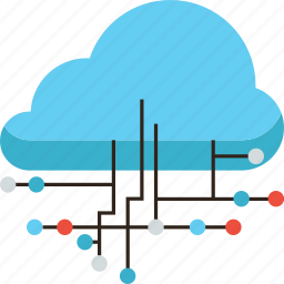 cloud, computing, connection, global, hosting, infrastructure, network, server, service icon