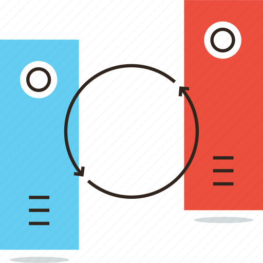 data, database, interconnection, server, sync, synchronize, update icon