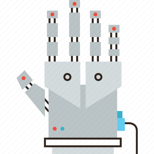 arm, cyber, glove, hand, robot, robotic, technology, tracking, virtual icon