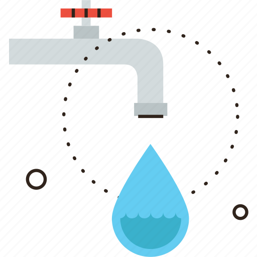 drip, drop, economy, environmental, faucet, pipe, tap, water icon