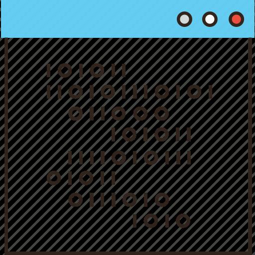binary, code, coding, crypto, data, program, programming, software, web icon