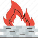 cyber, fire, firewall, flame, internet, protection, security icon