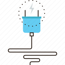 cable, cord, electric, electricity, energy, plug, power, supply icon